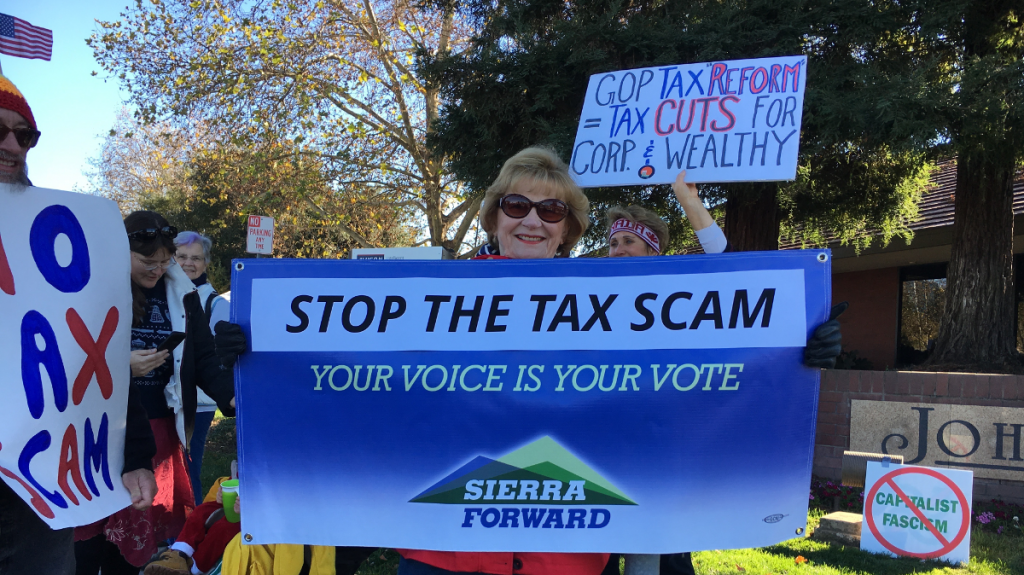 Tax Scam Emergency Protest